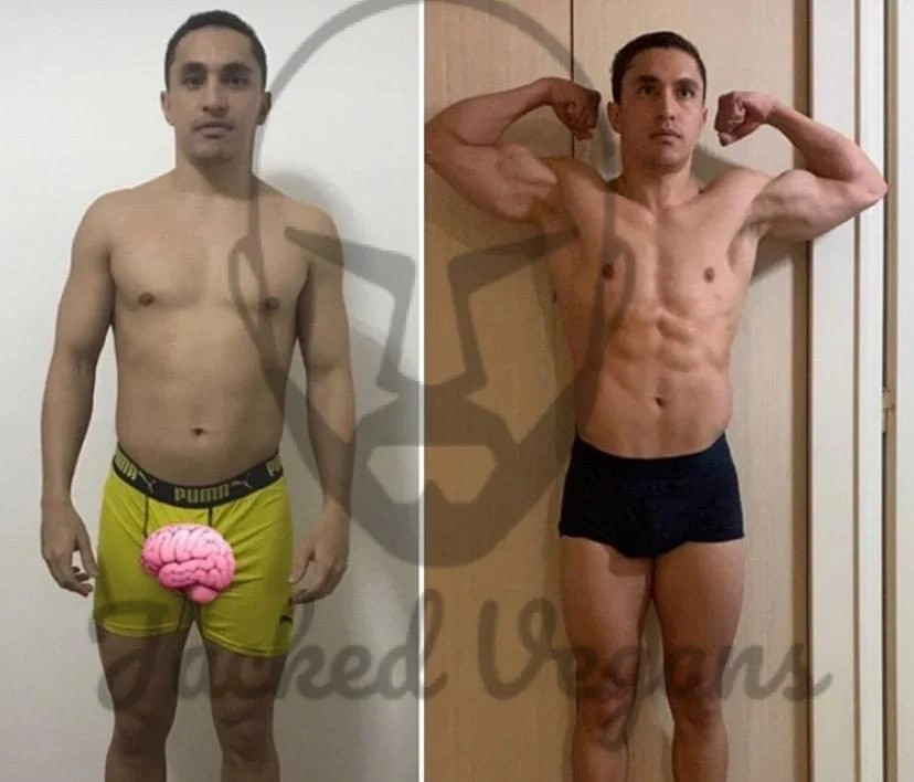 weight loss client outcome with Jacked vegans programns in playa del carmen