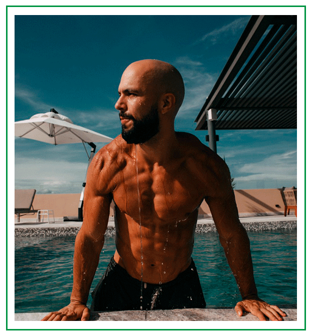 julian hierro CEO of jacked vegans in the pool on playa del carmen