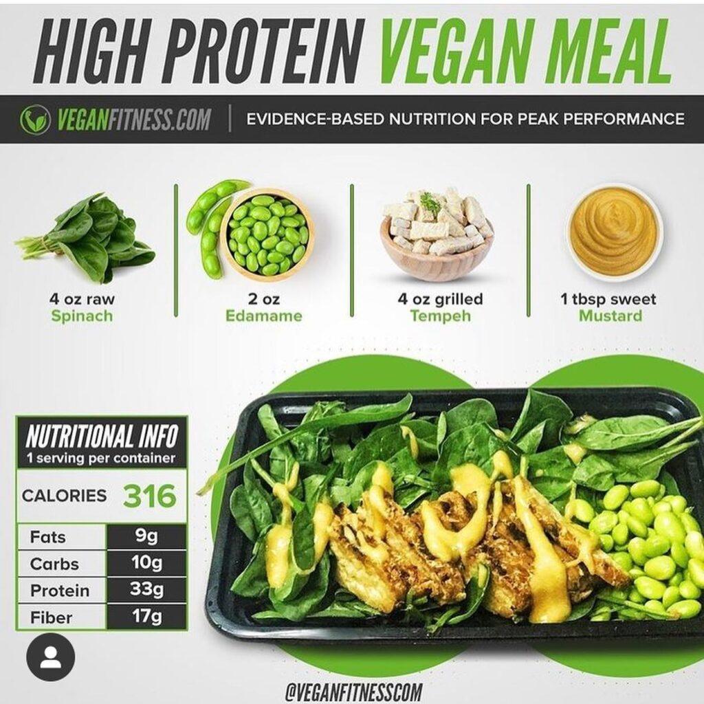 vegan bodybuilding meal