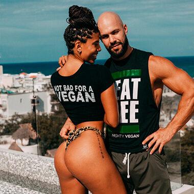 julian hierro and gilian reichert team of jacked vegans in playa del carmen mexico